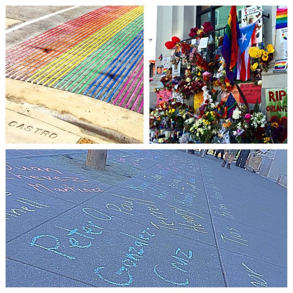 Names of those from Orlando on sidewalk leading up tohellip