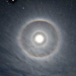 Double Halo around Moon