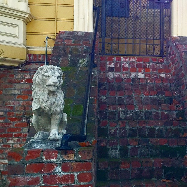 Anything damaged at your entrance invites damaged career, finance, and love life! This broken legged lion means trouble for the occupants! #fengshui #sf #frontdoorfengshui #fengshuifail