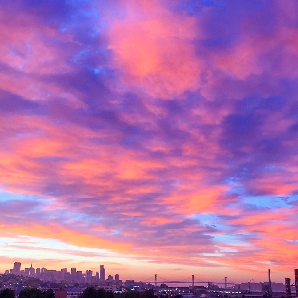 SF sunset cityscape aw